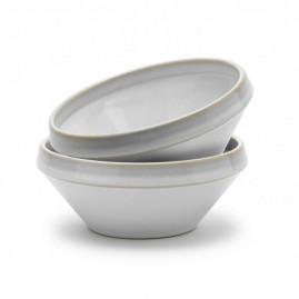 Knabstrup Keramik Tavola - Dejfadssæt 2 stk. 0,5 ltr, Silkemat Hvid